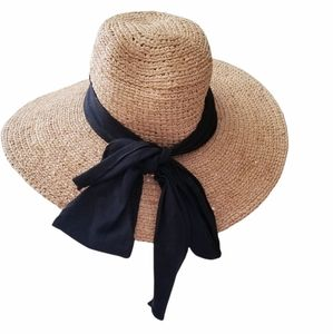 Scala woven Derby floppy hat with bow